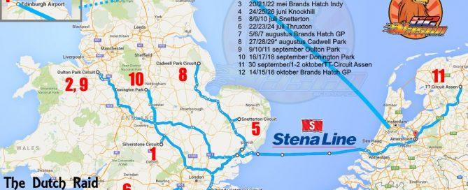 Kalender plattegrond 2016 British Superbikes