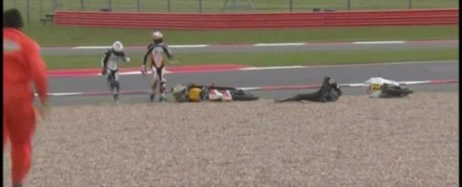 Crash Vasco62 Moto3 Silverstone